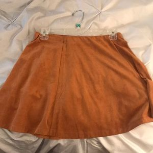 Suede Forever 21 skirt